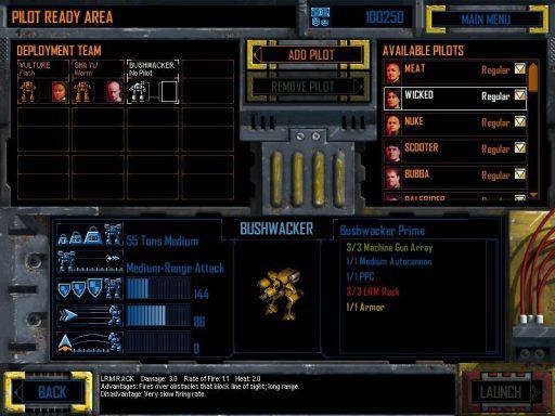 Перед каждой миссией можно пересобрать боевой отряд